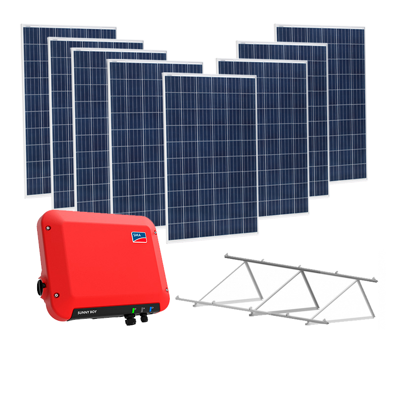 Kit solar on grid 2000w