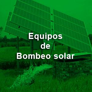 Equipos de bombeo solar